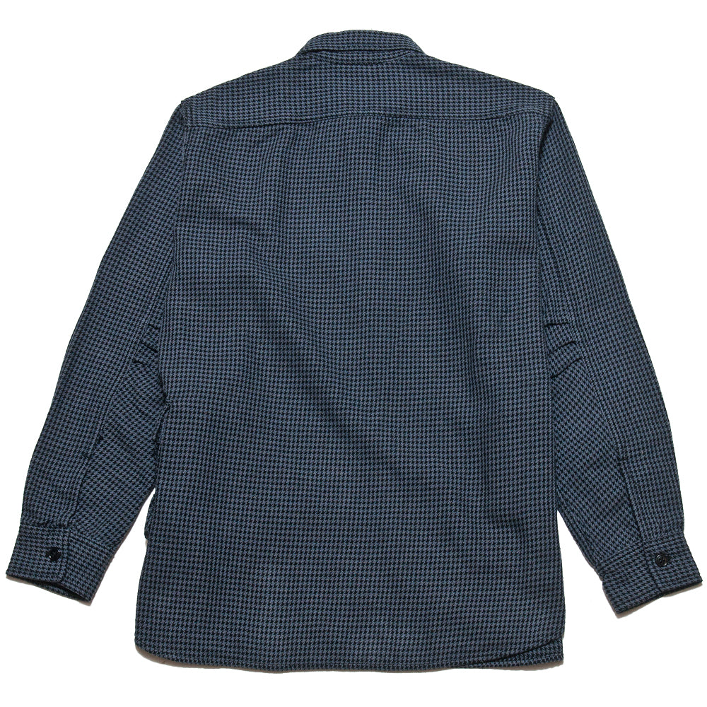 Sassafras G.D.U. Shirt Charcoal Houndstooth at shoplostfound, back