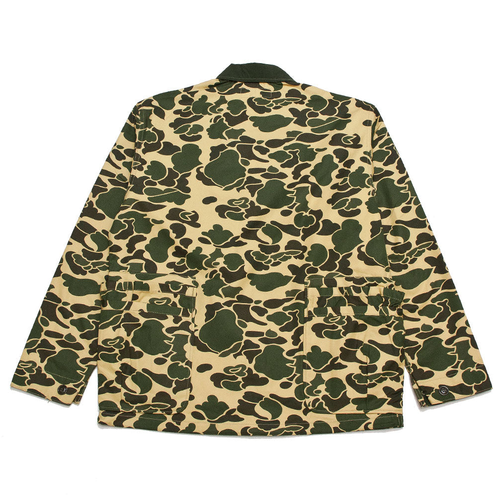 Sassafras D.H. Camo Garden Hole Jacket at shoplostfound, back