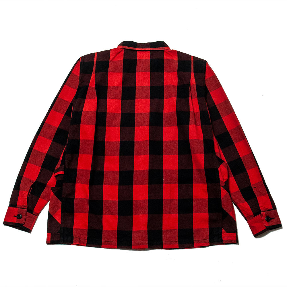 Sassafras Gardener Half Shirt Buffalo Plaid Red at shoplostfound, back