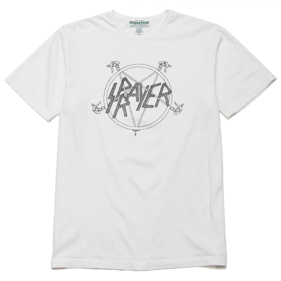 Sassafras Sprayer Tee White at shoplostfound, front