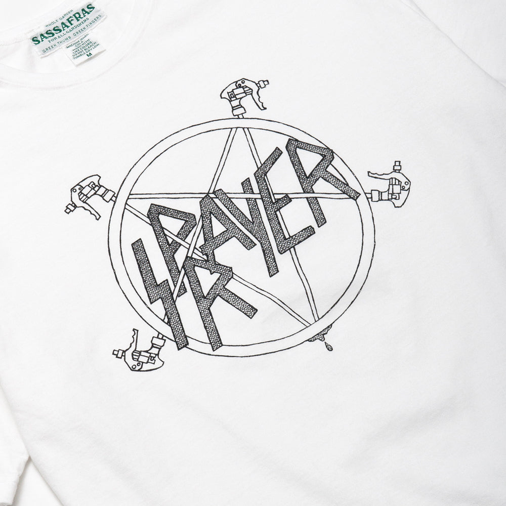 Sassafras Sprayer Tee White at shoplostfound, graphic