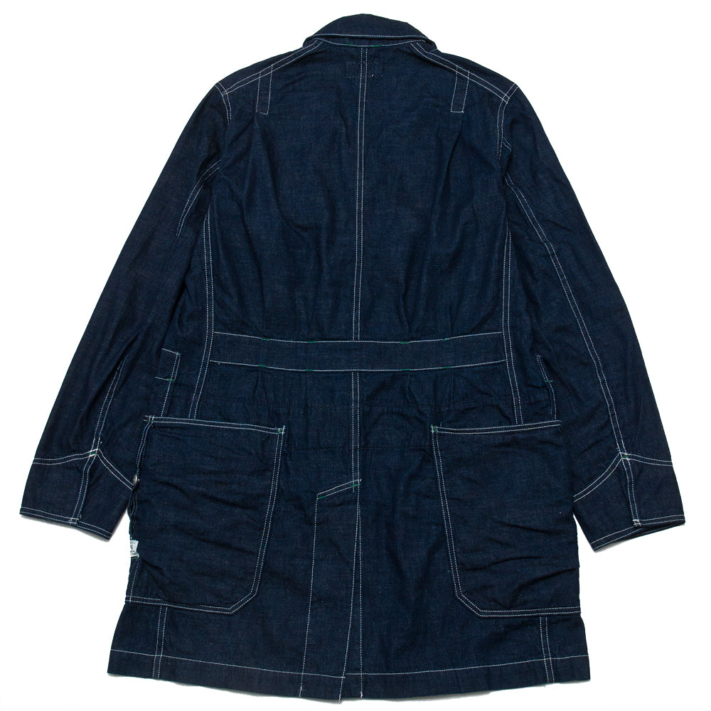 Sassafras Whole Leaf Coat Indigo 8oz Denim at shoplostfound, back
