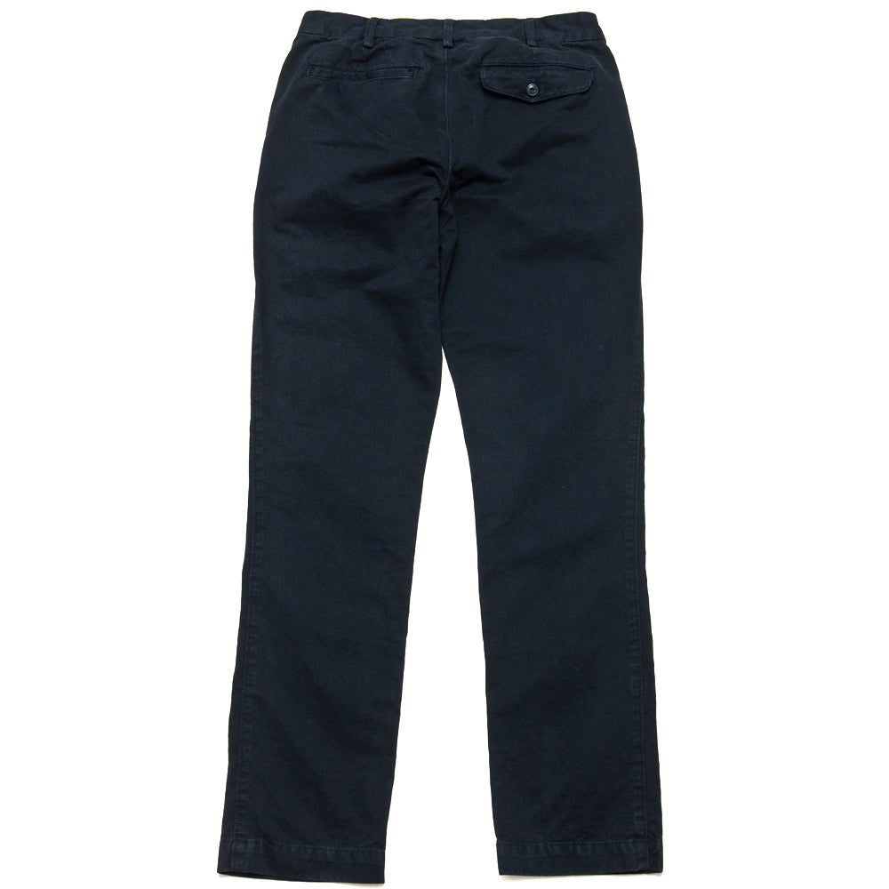 Save Khaki United Classic Twill Trouser Navy at shoplostfound, back