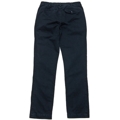Save Khaki United Classic Twill Trouser Navy at shoplostfound, front