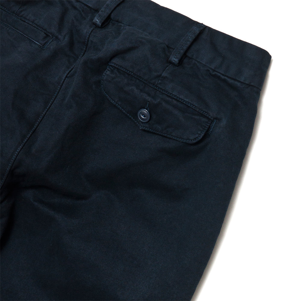 Save Khaki United Classic Twill Trouser Navy at shoplostfound, detail