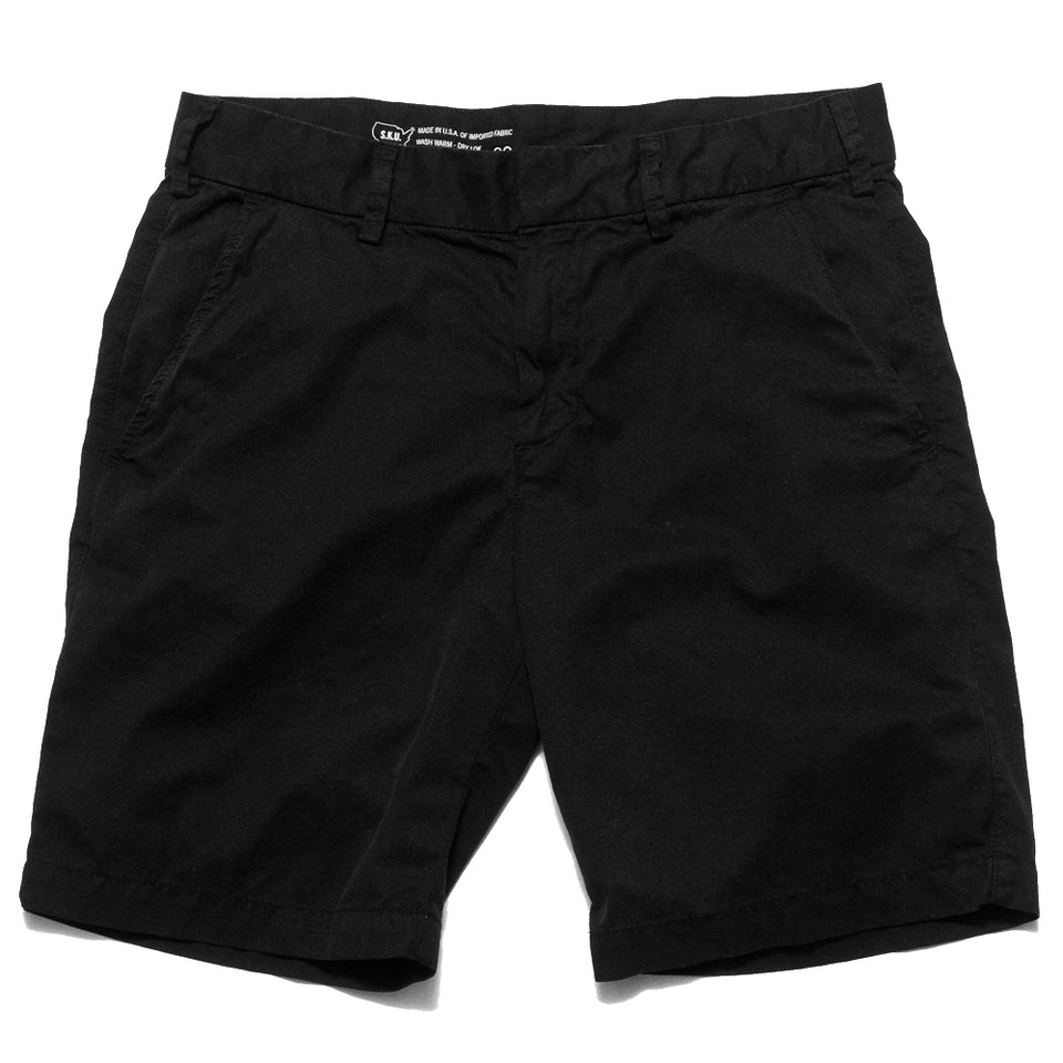Save Khaki United Light Twill Bermuda Short Black at shoplostfound, front