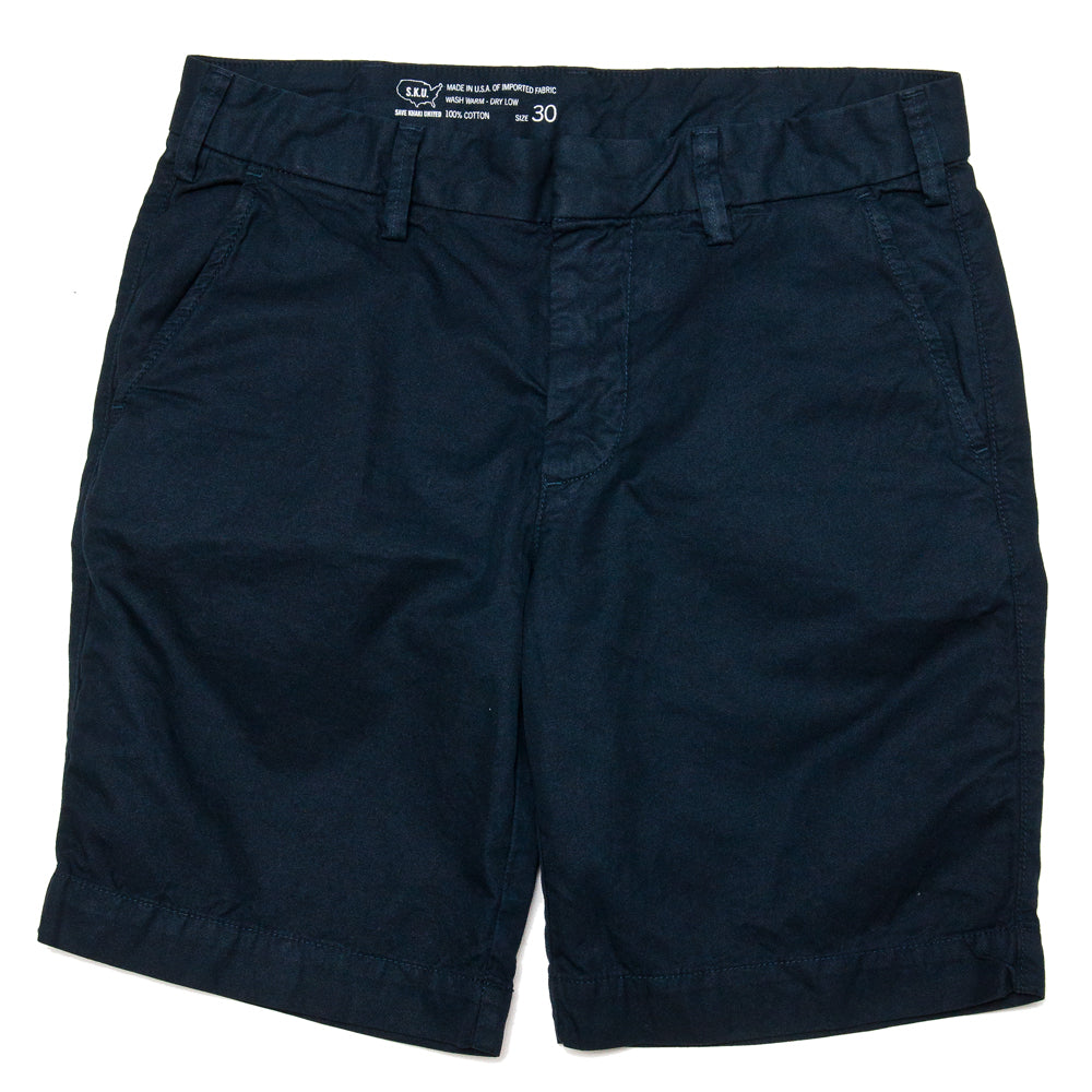 Save Khaki United Light Twill Bermuda Short Navy at shoplostfound, front