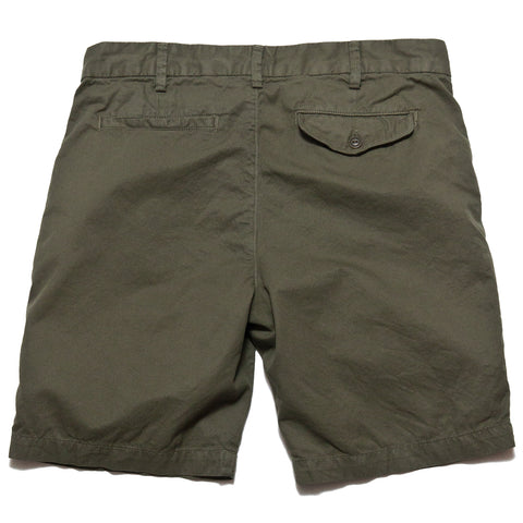 Save Khaki United Light Twill Bermuda Short Olive Drab AT SHOPLOSTFOUND, FRONT