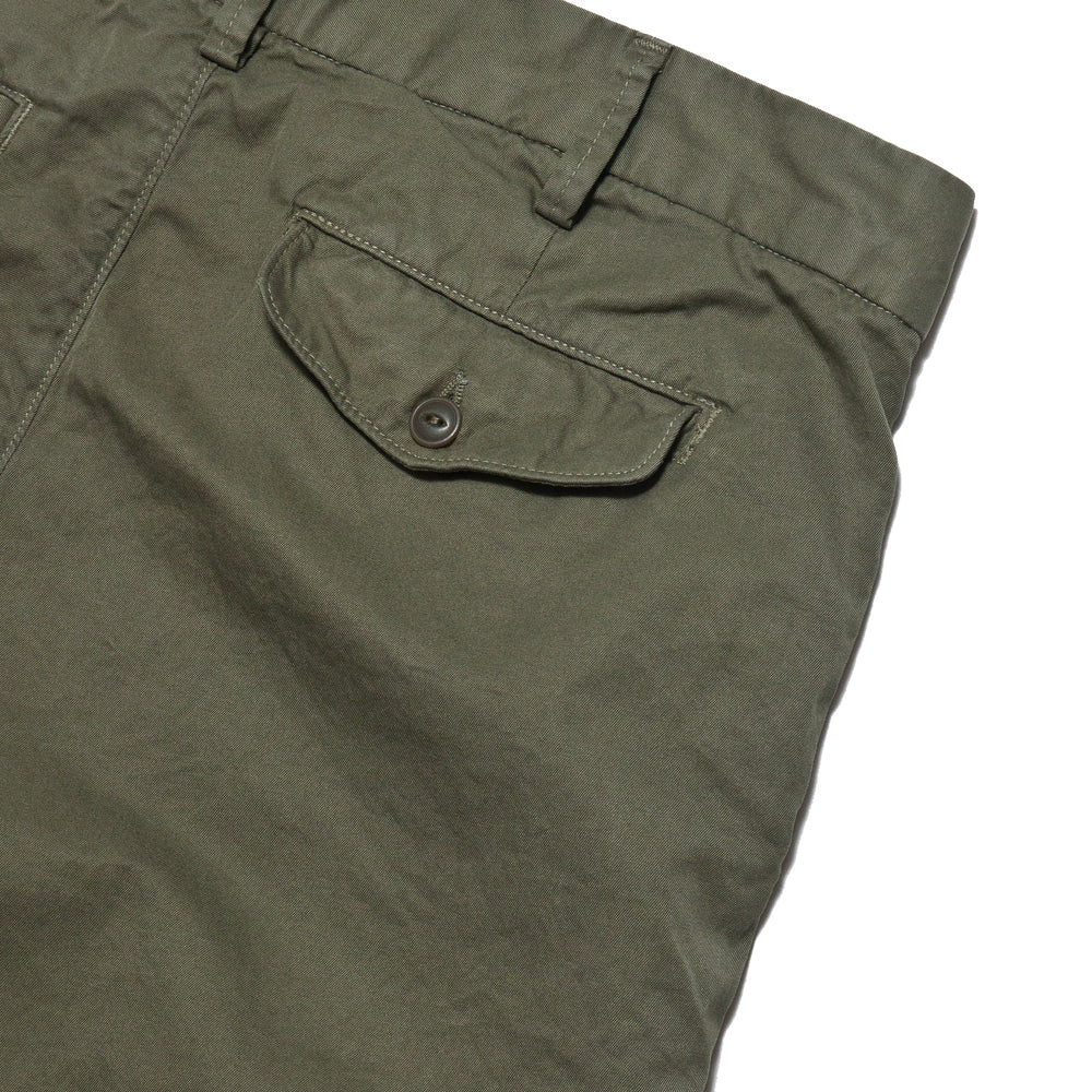 Save Khaki United Light Twill Bermuda Short Olive Drab AT SHOPLOSTFOUND, detail