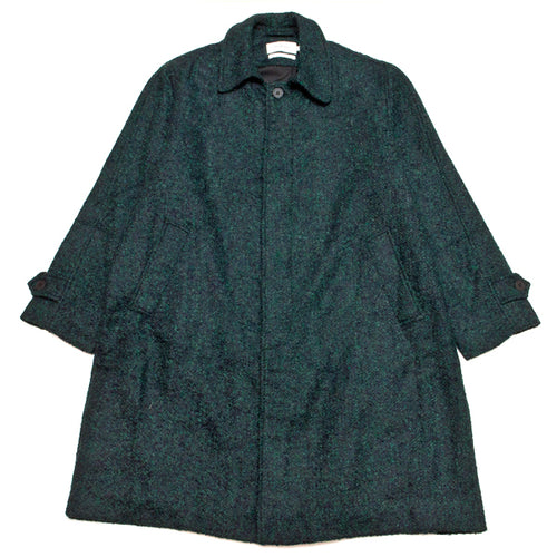 Schnayderman's Coat Oversized Boucle Melange Black/Green at shoplostfound, front