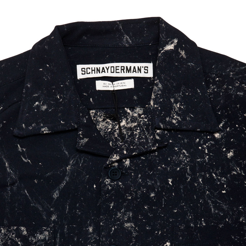Schnayderman's Overshirt Boxy Hand Painted Shirt Navy shoplostfound 3