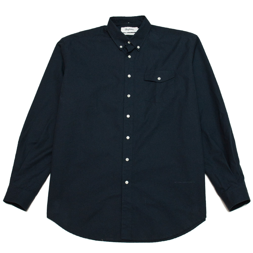 Schnayderman's Shirt Oversized Trench Dark Navy at shoplostfound, front