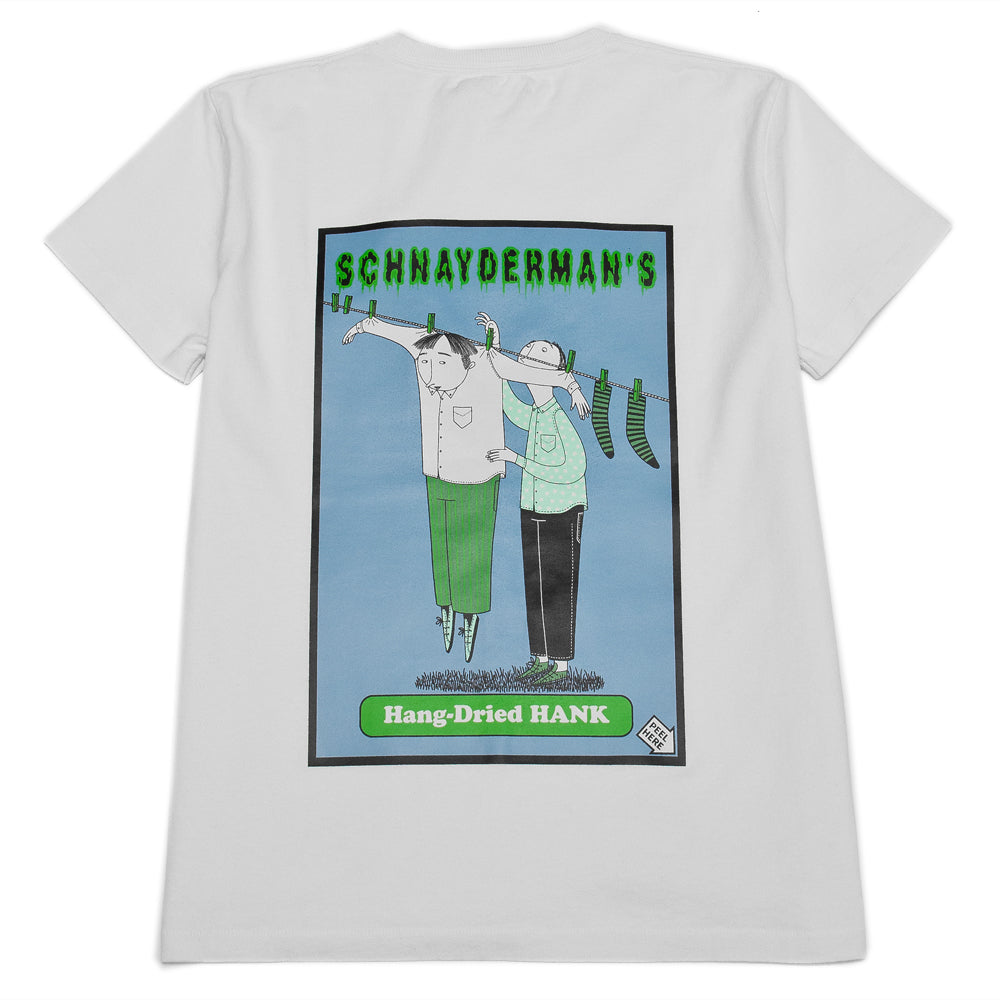 Schnayderman's T-Shirt Jersey Print White at shoplostfound, back