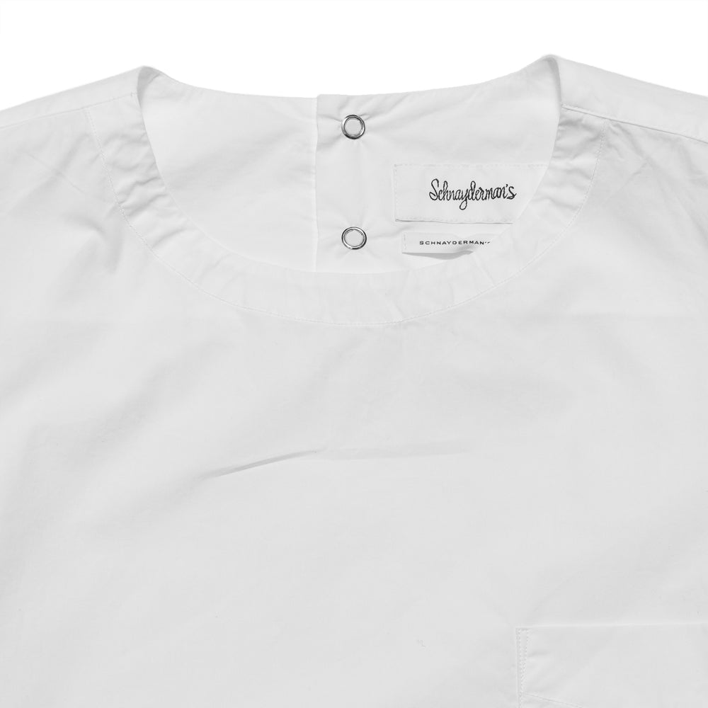 Schnayderman's T-Shirt Poplin One White at shoplostfound, neck