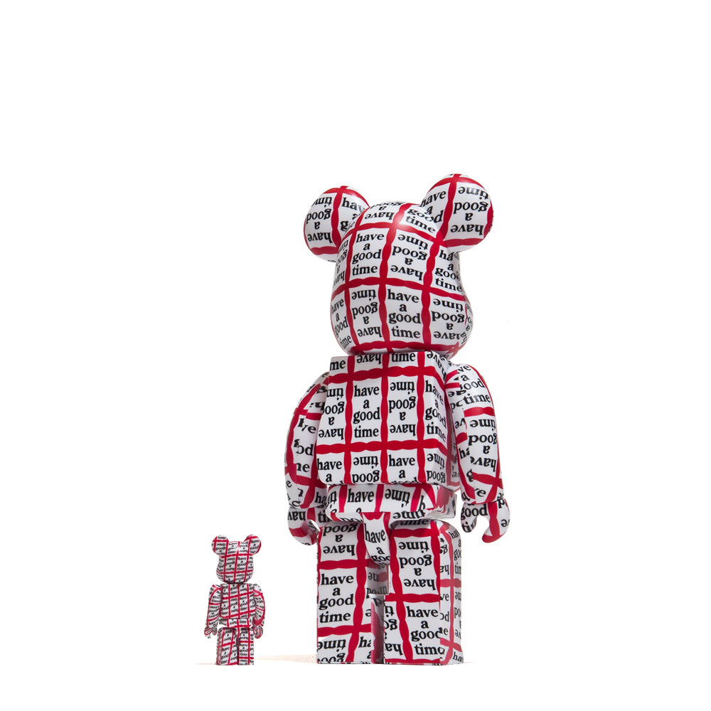 Medicom Toy x Have A Good Time 100% + 400% Bearbrick at shoplostfound, back