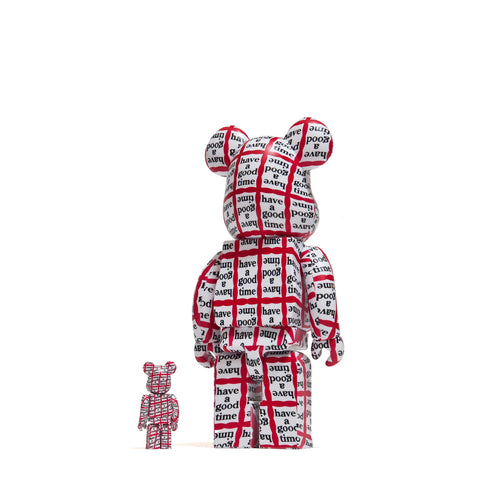 Medicom Toy x Have A Good Time 100% + 400% Bearbrick at shoplostfound, front