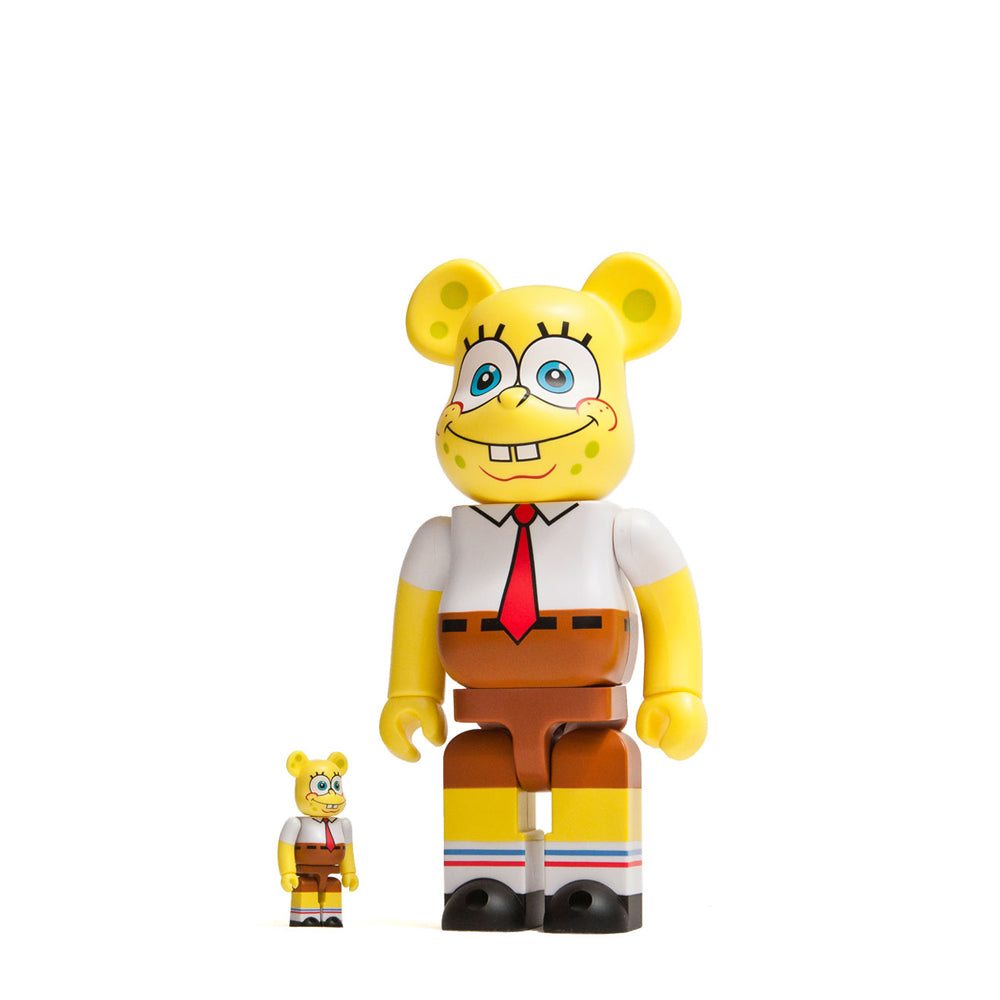 Medicom Toy x SponeBob Squarepants 100% + 400% Bearbrick at shoplostfound, front