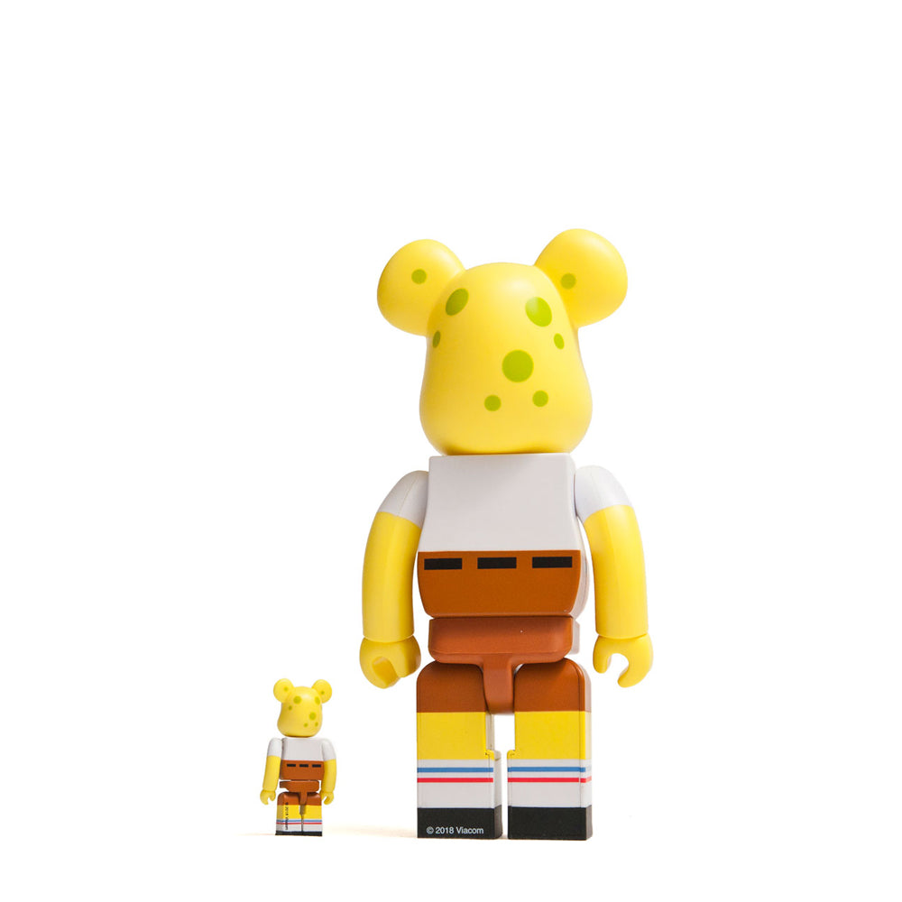 Medicom Toy x SponeBob Squarepants 100% + 400% Bearbrick at shoplostfound, back