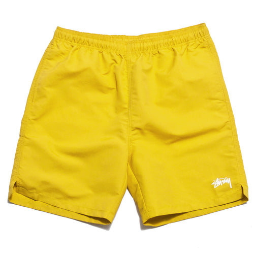 Stüssy Stock Water Short Yellow at shoplostfound, front