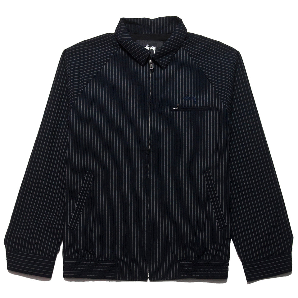 Stüssy Bryan Jacket Navy at shoplostfound, front