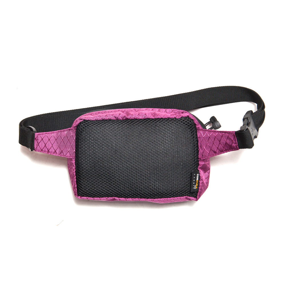 Stüssy Diamond Ripstop Waist Bag Berry at shoplostfound, back