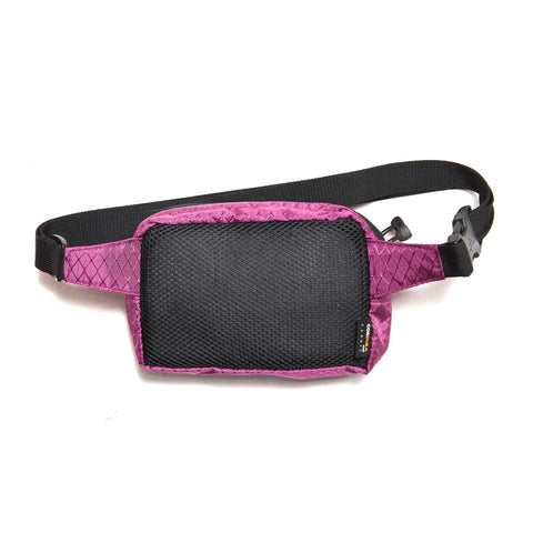 Stüssy Diamond Ripstop Waist Bag Berry at shoplostfound, front