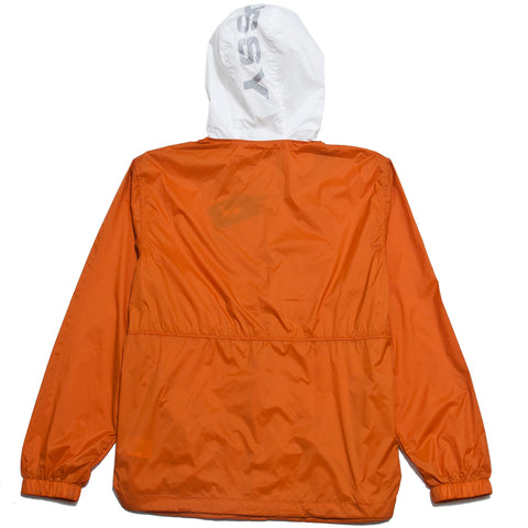 Stüssy Sport Nylon Jacket Orange at shoplostfound, front