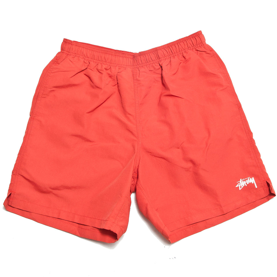 Stüssy Stock Water Short Bright Red at shoplostfound, front