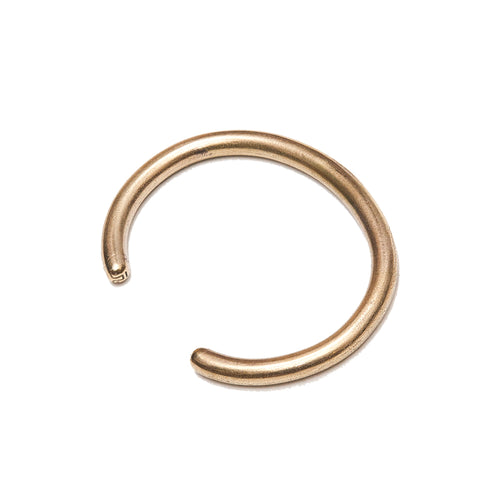 Tender Plautus Face Torc Bracelet Polished Brass at shoplostfound, front