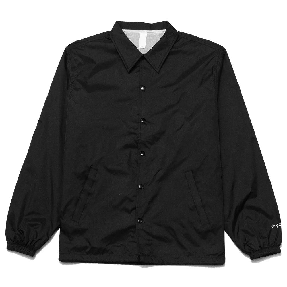 The Foreign Barber Grandpa Coach Jacket Black at shoplostfound, front