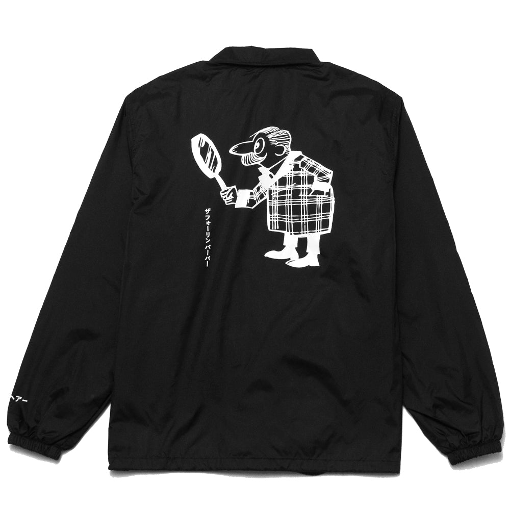 The Foreign Barber Grandpa Coach Jacket Black at shoplostfound, back