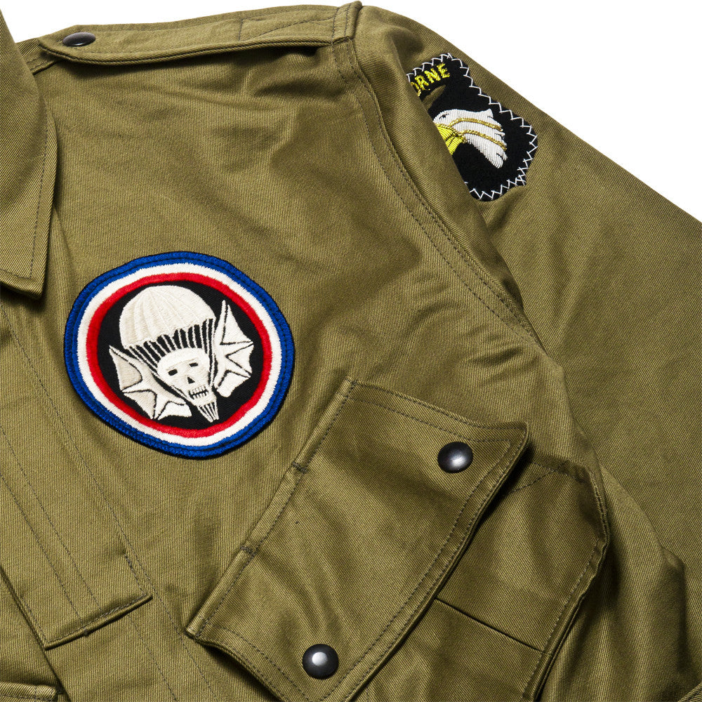 The Real McCoy's 506th P.I.R Jump Jacket MJ17005 at shoplostfound, patch