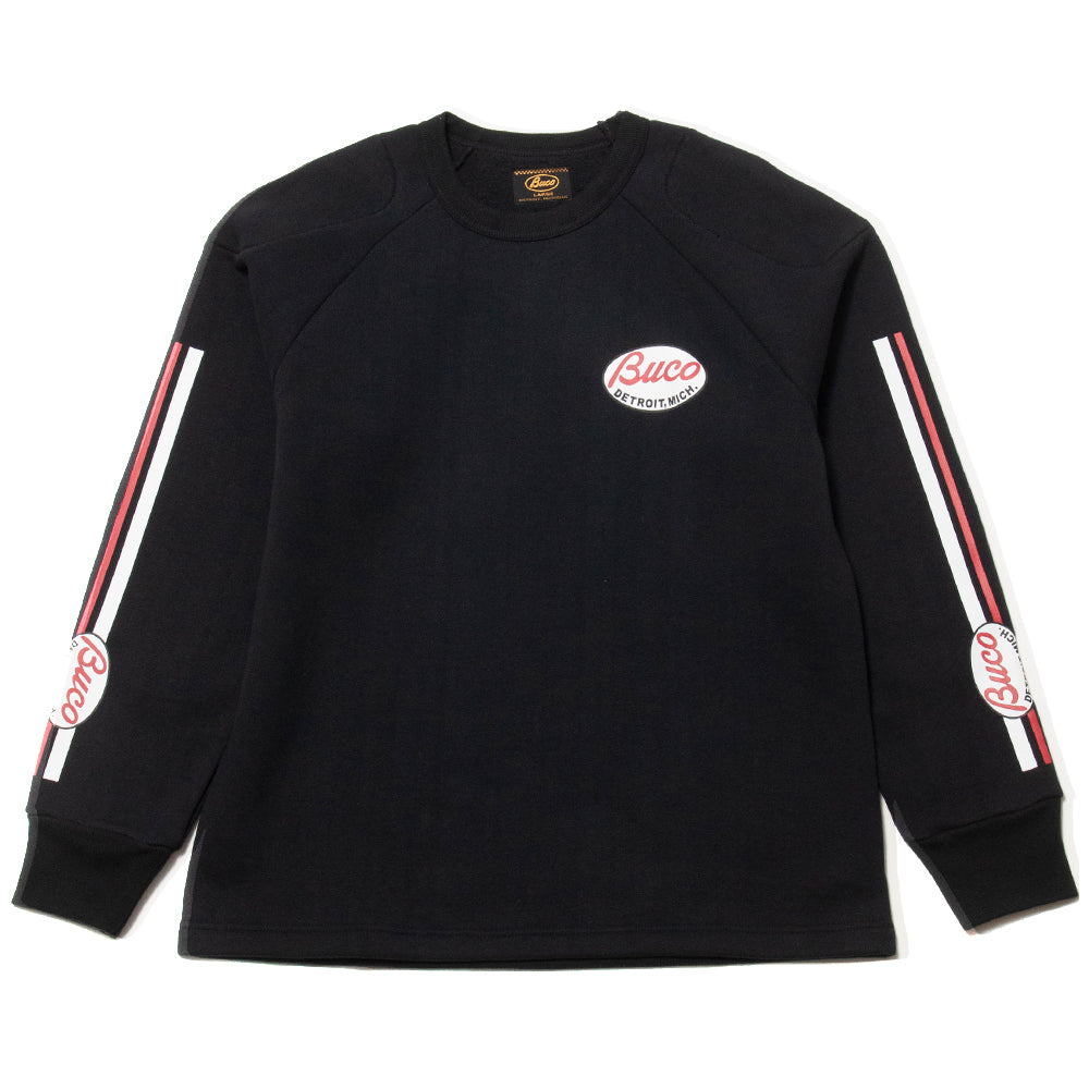 The Real McCoy's Buco Padded Sweatshirt Black at shoplostfound, front