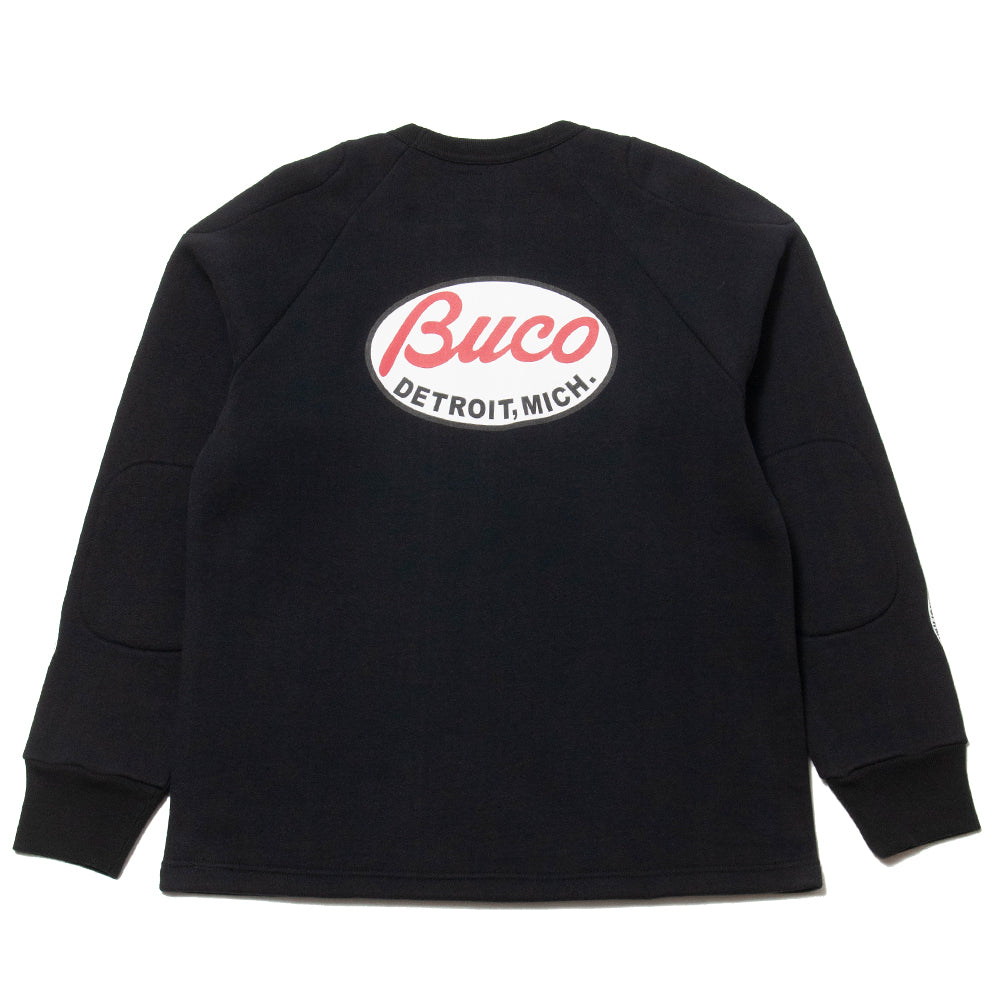 The Real McCoy's Buco Padded Sweatshirt Black at shoplostfound, back