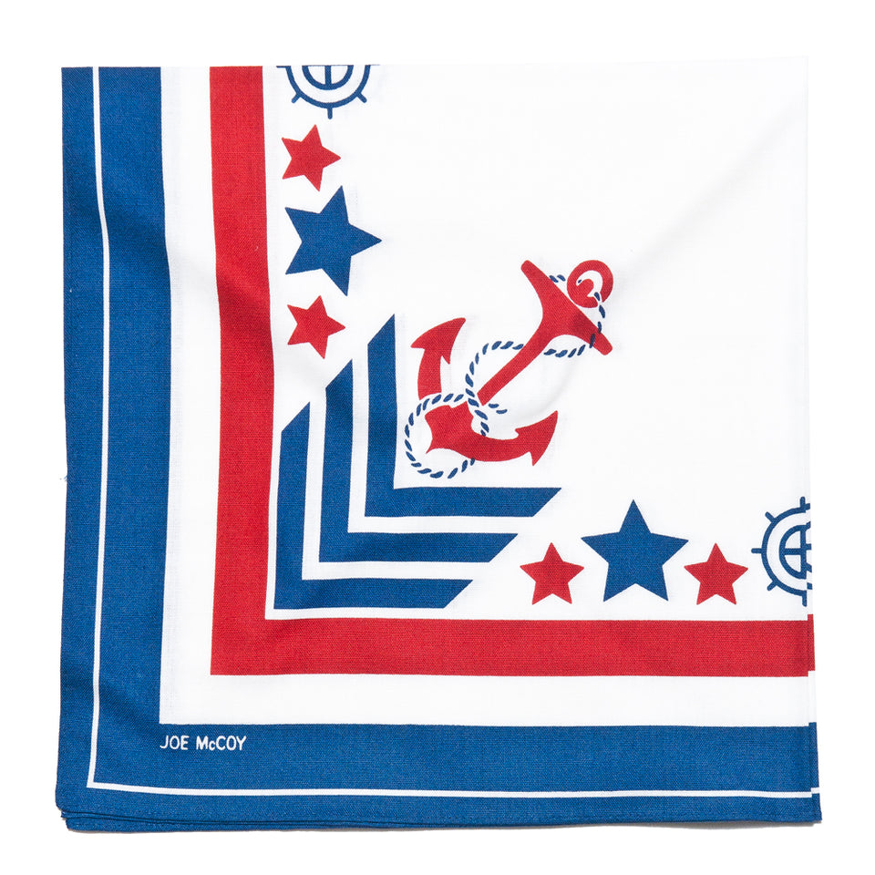 The Real McCoy's Joe McCoy Military Anchor Bandana MA12011 at shoplostfound, folded