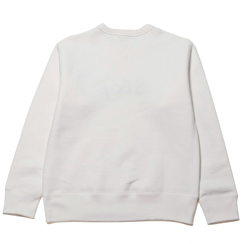 The Real McCoy's Loopwheel Crewneck  Sweatshirt Slap at shoplostfound, back