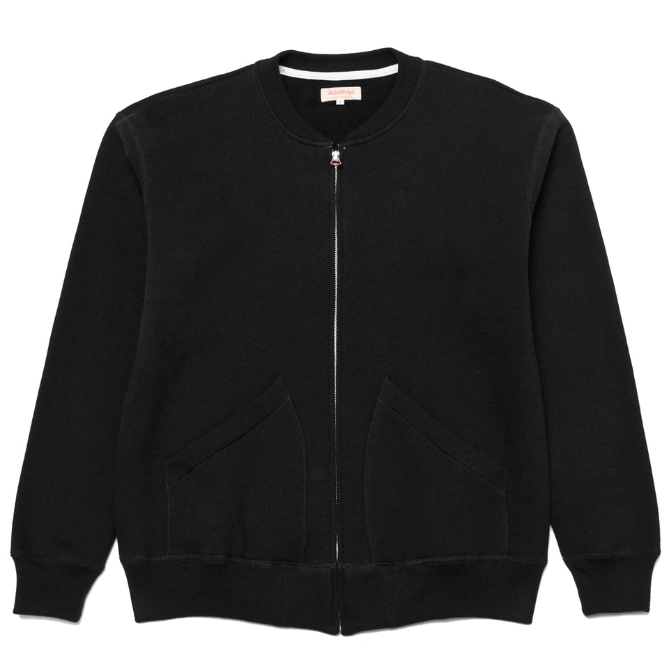 The Real McCoy's MC19004 Black 10oz. Full Zip Sweatshirt at shoplostfound, front