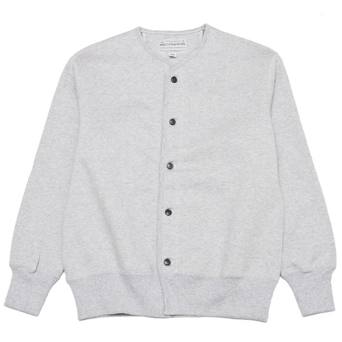 The Real McCoy's U.S.N. Cotton Cardigan Grey MC19104 at shoplostfound, front