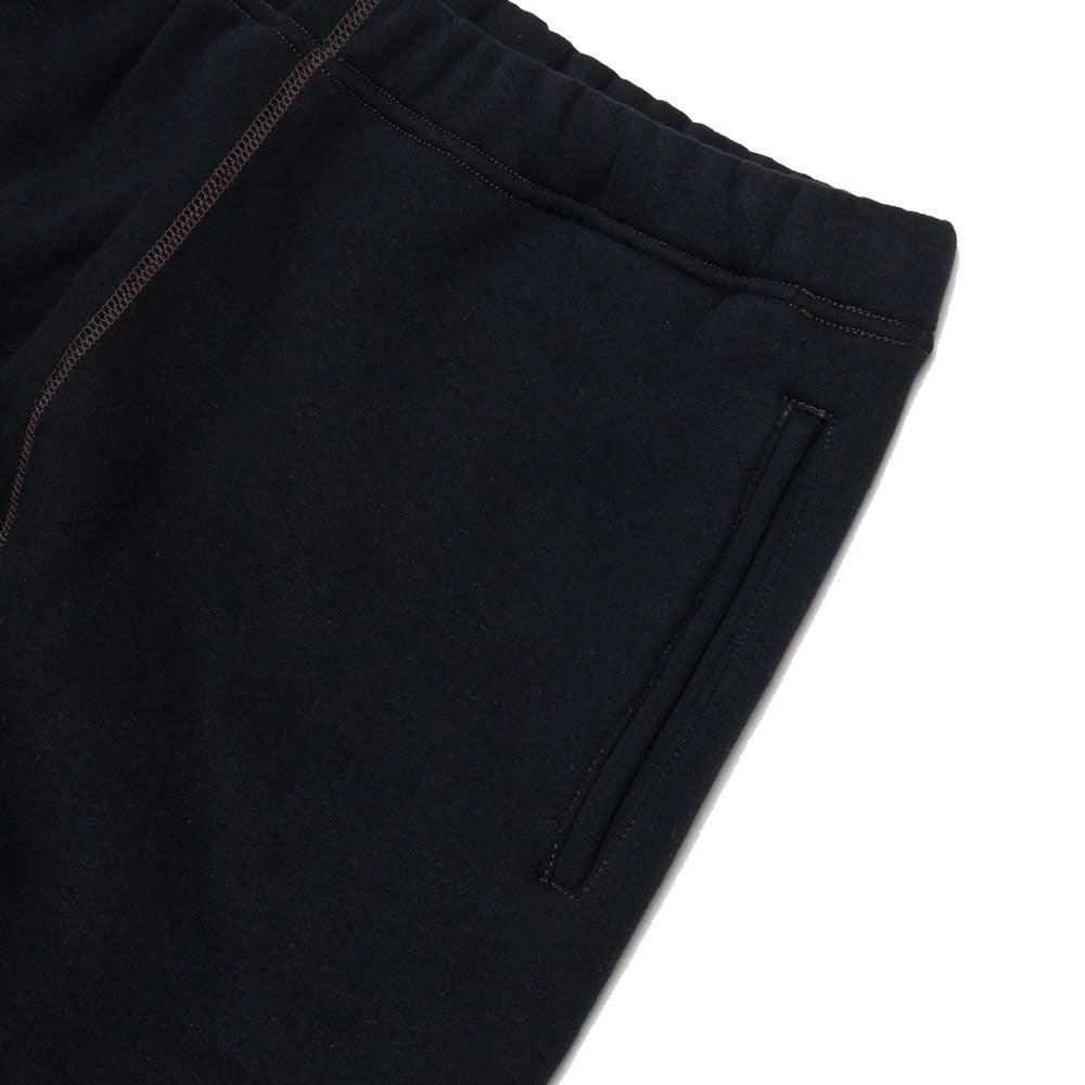 The Real McCoy's 10 oz. Loopwheel Sweatpants Black MC18118 at shoplostfound, pocket