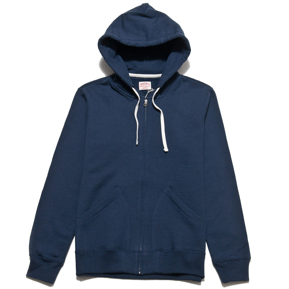 The Real McCoy's 10oz Sweat Parka Navy MC13022 at shoplostfound, front