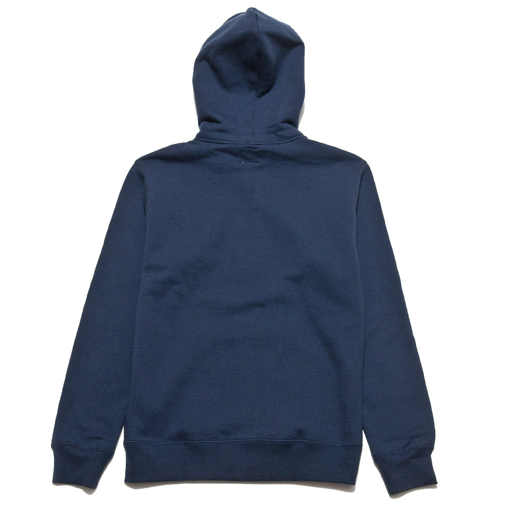The Real McCoy's 10oz Sweat Parka Navy MC13022 at shoplostfound, back