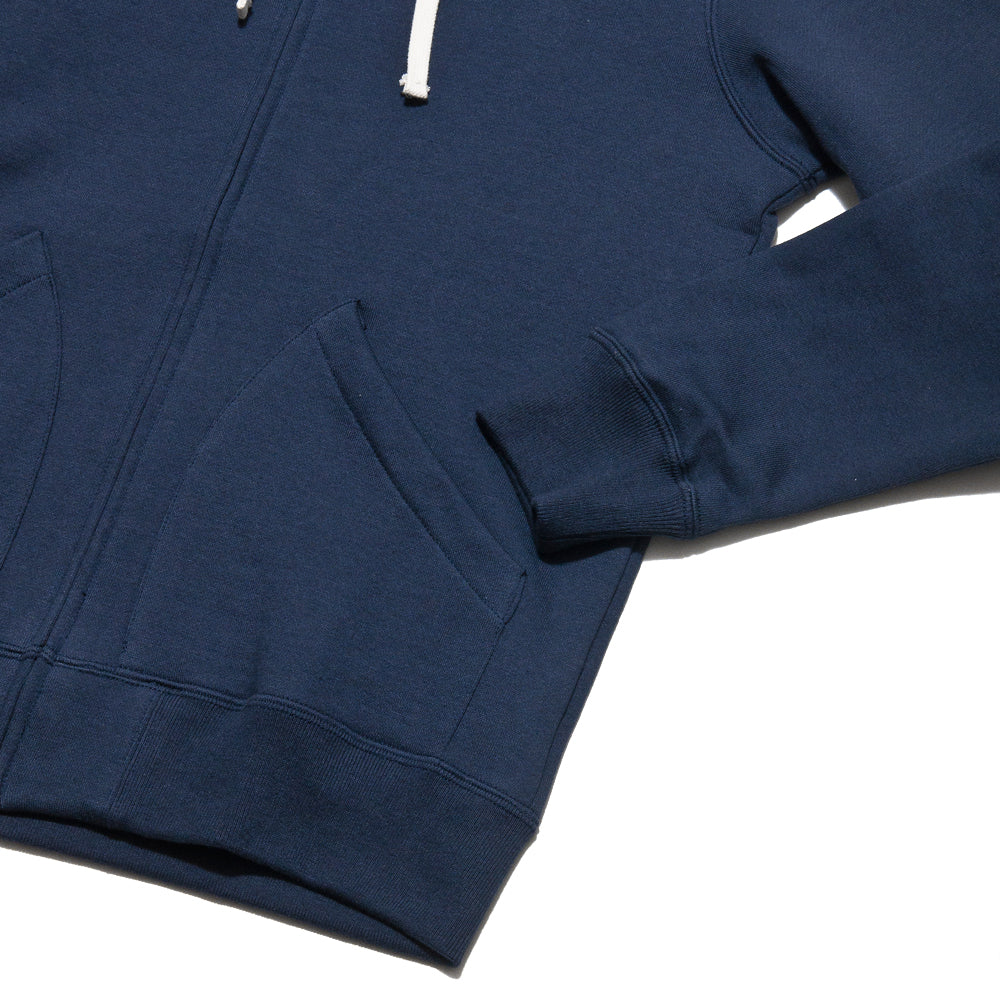 The Real McCoy's 10oz Sweat Parka Navy MC13022 at shoplostfound, cuff