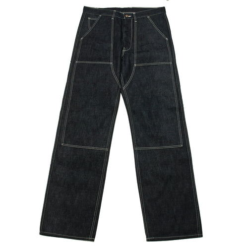 The Real McCoy's 8HU Denim Double-Knee Work Trousers Indigo MP19017 at shoplostfound, front