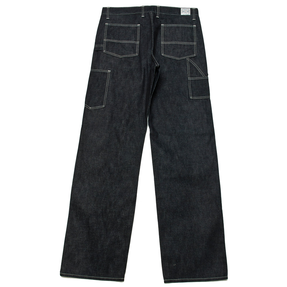 The Real McCoy's 8HU Denim Double-Knee Work Trousers Indigo MP19017 at shoplostfound, back