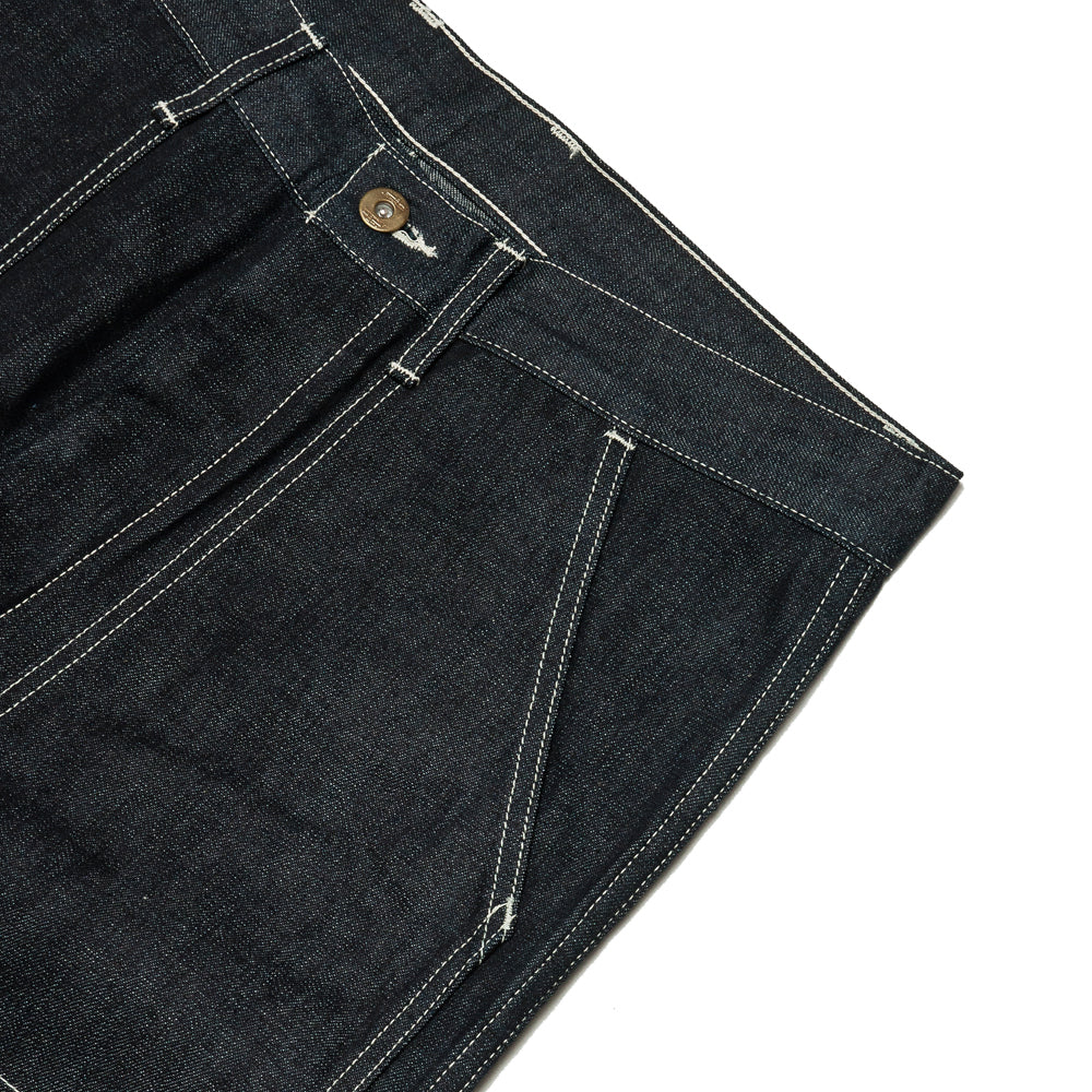 The Real McCoy's 8HU Denim Double-Knee Work Trousers Indigo MP19017 at shoplostfound, pocket