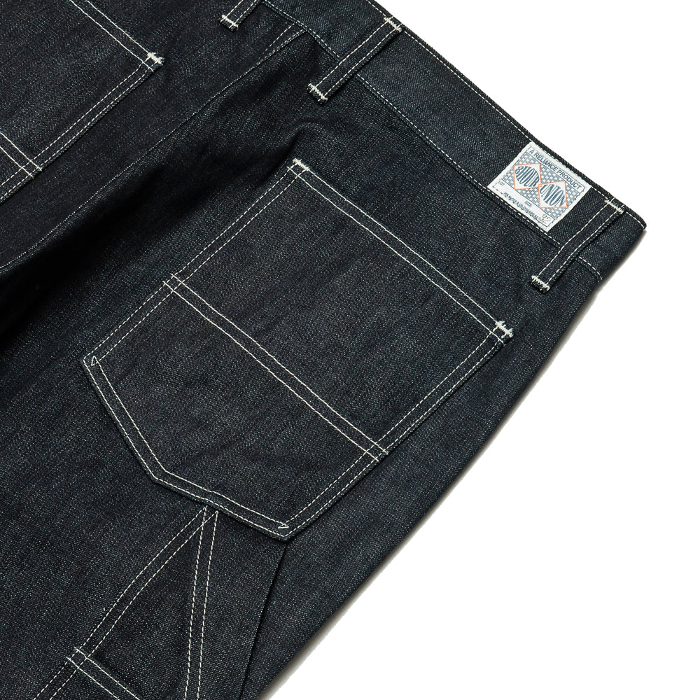 The Real McCoy's 8HU Denim Double-Knee Work Trousers Indigo MP19017 at shoplostfound, details