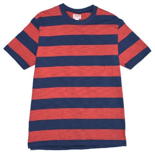 the-real-mccoys-bc20007-buco-stripe-tee-ss-red-navy