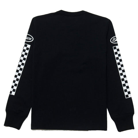 The Real McCoy's Buco Long Sleeve Race & Track Black BC18003 at shoplostfound, front