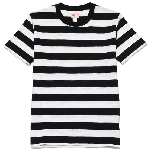 The Real McCoy's Buco Stripe Tee S/S Black/White at shoplostfound, front