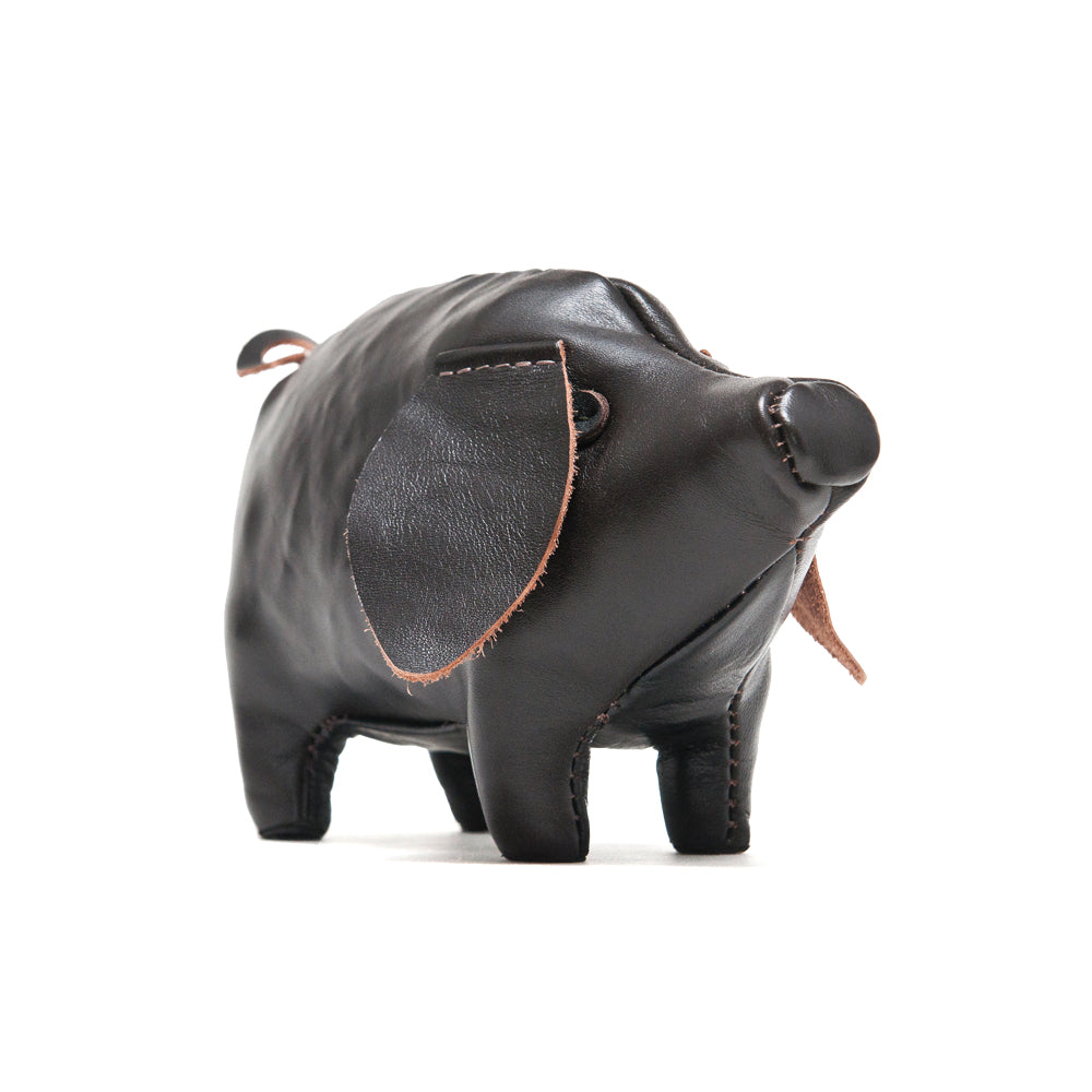 The Real McCoy's Handcrafted Horsehide Small Pig at shoplostfound, front